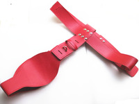 Leather Female Chastity Devices Belt Fetish Pant Underwear with 2 Locks Adult Anti Sex Masturbation Device for Girls Red YC473