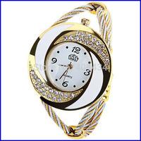 wholesale fashion Crystal Quartz Women watch Lady Bangle Bracelet Wrist Watch 600pcs