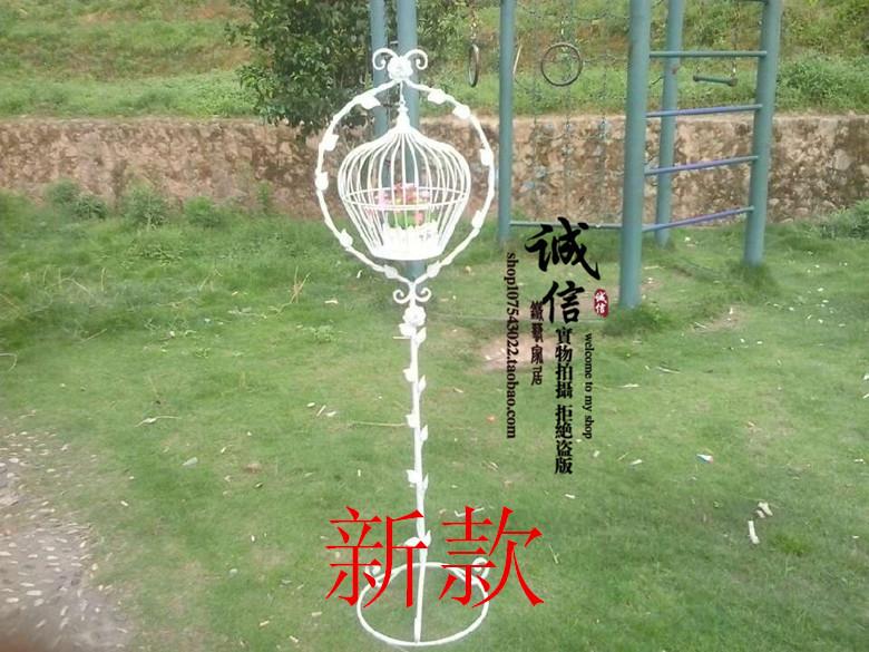 Ou ferro forjado gaiola o adorno chão tamanho da gaiola gaiola de pássaro de casamento o papagaio estorninho aftas gaiola(China (Mainland))