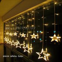 Yellow 2M 168 Leds LED String Lighting Wedding Fairy Christmas Lights Outdoor Twinkle Christmas Decoration Star Xmas Lights