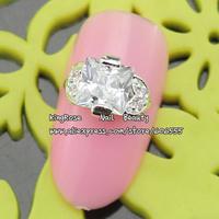 sh481 new zircon alloy nail art decorations wholesale 20pcs/lot  metal nail stickers nail rhinestone nail supplies free shipping