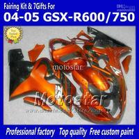 Wholesale - Fairings body kit with 7 Gifts for SUZUKI GSXR 600 750 K4 2004 2005 GSXR600 GSXR750 04 05 R600 R750 orange red black