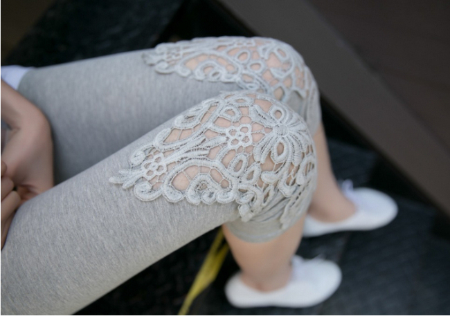 Fashion Splice Imitation Denim Leggings New Women Sexy Fashion