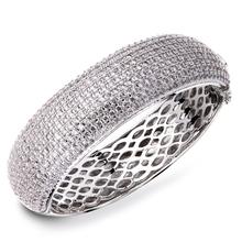 2015 New Wedding Jewelry Luxury elegant bracelet AAA Cubic Zirconia bangles Prong Setting Propose Marriage Present