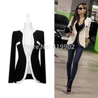 White Black Colors Fashion New Slim Ladies Womens Suit Coat Blazer Jacket Button