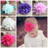 Free Shipping!30pcs/lot Pretty Chiffon Flower ON 1.5cm Skinny Elastic Headband,Flower Headband for Babies/Newborns/Toddler/Girls