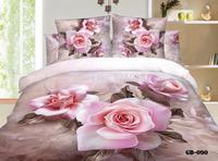 HOT  6 PCS per SET  3D Bed Linen with Reactive Printing 3D bedding set 3d  Flat Sheet bedclothesGD0906