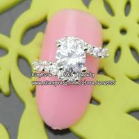 sh495 new  3d nail jewelry alloy nail art rhinestone decorations 30pcs nail tip glitter  free shipping