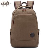 "2014 Wholesale Canvas backpacks for male fashion travel backpack bag female student school backpack for women 14"" laptop bag"