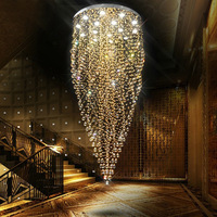 Modern large luxury amber k9 crystal chandelier for hotel lobby and home decoration + free shipping