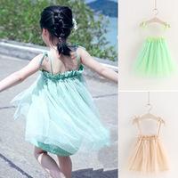 Free shipping! new 2014 summer new fashion children's clothing girls dress sling mesh veil princess dress, girl tutu