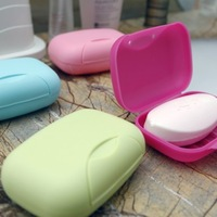 BF050 Colorful Portable soap box Multifunctional lock soap box soap holder 11.8cm*8.5cm*4.5cm free shipping