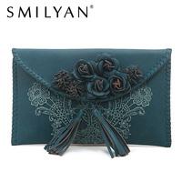 Smilyan women wallet coin purse vintage clutch bags women envelope clutch leather women shoulder bags chain bag free shipping
