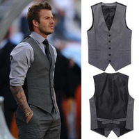 Hot Selling 03 British Star Style Men's Blazer Vests, Casual Suit Vest Men, Formal Tank, Vest Men, Big Size XXL