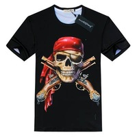 Free Shipping Spring 2014 Summer Women+Men Fashion 3D O-Neck Short T-Shirt S-XXL
