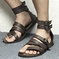 High sandals fashion male sandals genuine leather male sandals genuine leather the first layer of leather flip-flop