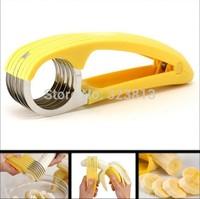 Free shipping  Fresh TV Banana Cutter Slicer Cucumber Gherkins Veg Fruit Bananza New Tool Splitte