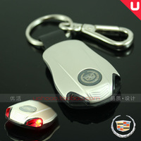 Free shipping Cadillac with lamp series, key ring/buckles CTS/SLS/SRX/ESCALADE/XLR/V Christmas