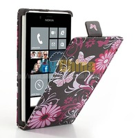 1PCS High Quality Pattern Leather Case Mobile Phone Vertical Magnetic Leather Case Cover for Nokia Lumia 720