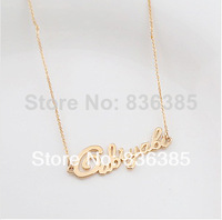 New Arrival 2014 lucky charm real gold necklace  fashion  pretty girls gold chain 18k rose gold Fashion women necklace Gn18