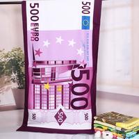 [BATH TOWEL] 70*140 cm 310g200 Euro Beach Towel Novelty Households Microfiber Fabric Fine Printing Children's Bath Towel