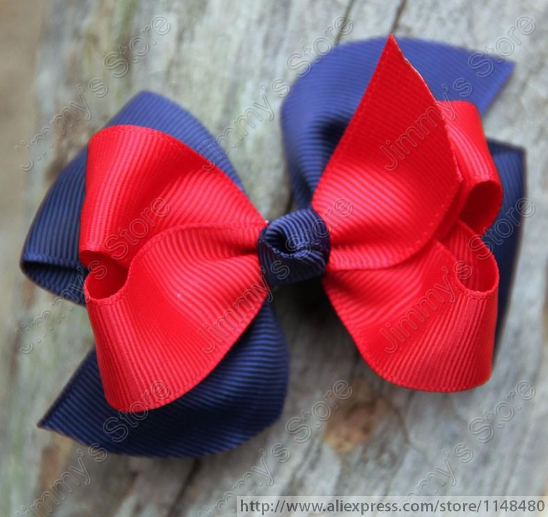 Mixed 50pcs lot 3 5 medium 2 layered bow little girls toddler hair