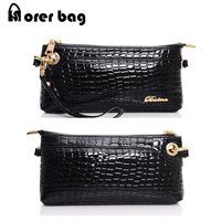Free Shipping New 2014 EUR American Style Women Messenger Bag ,Woman Clutch Alligator Small Phone Handbag morer#444