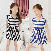 New 2014 children clothing 100% cotton girl dress summer dress for kids girls free shipping