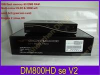 2014 Satellite tv Receiver DM800SE V2 wifi 1GB Flash 521MB RAM DM800hd se HbbTV  DM800HD SE sim2.2 v2 Free Shipping