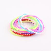Neon Color Fluorescent Rubber Bands Bracelet Rainbow Elastic Rubber Bands Bracelet Bangles Free Shipping Wholesale ZB113