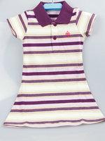 New arrival summer baby girls Short  sport dress Purple stripes  size 4 6 8 10 12