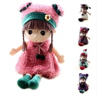 Cartoon winter animal girl plush doll toy birthday gift