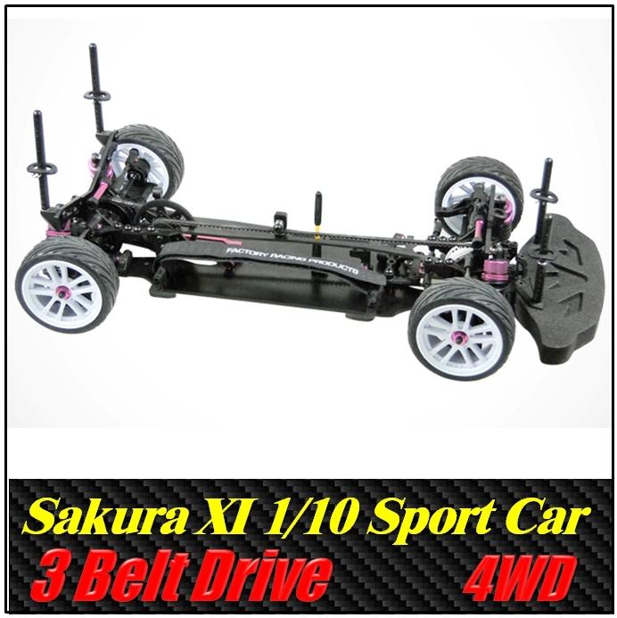 3RACING Sakura XI Sport 1/10 Scale Belt drive Front motor 4WD Rc Car , Kit version ,Free shipping(China (Mainland))