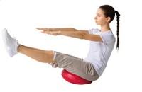 Free Shipping 34CM Balanced Ball Yoga Massage Cushion Balancing Pad Soft Balancing Wheel Strengthen With Pump