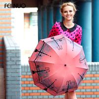 Quality Folding Beach Umbrellas Anti-Uv  Protection Super Sun Umbrella Princess Umbrella Female Umbrella Rain Women (Coral Red)