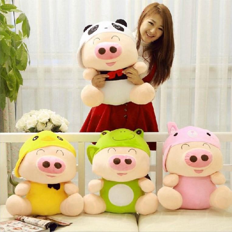 Pelúcia porco brinquedo animal cartoon porco grande presente de formatura linda boneca porco(China (Mainland))
