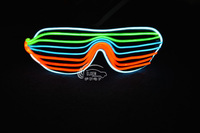 SG002-LED Lights up Sound Music Activated SunGlasses glow in the dark