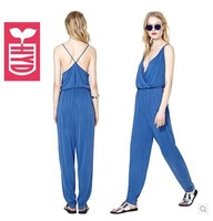 2014 summer OL spaghetti strap backless womens harlan pants jumpsuit,fashion sleeveless V neck leisure clothing