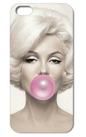 Free shipping Marilyn Monroe Bubble Hard case cover for iphone 4 4s 4g 4th 10pcs/lot