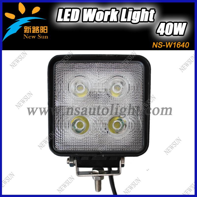 2014 china supplier 10v-30v auto led work light,super bright cree 40w led work light, 6000K with PC lens 4x4 led work light(China (Mainland))