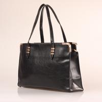 Women PU Leather Handbag Black Large Capacity PU Tote Shoulder Bags Fashion Design Free Shipping#HC074