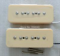 Sell Free Shipping guitar parts N&B/SET P90 guitar pickups Cream cover single coil soap bar guitar pickups