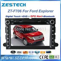 "ZESTECH dvd gps player radio 7"" car dvd gps navigation for Ford Explorer car dvd gps navigation with TV"