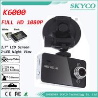 K6000 Car Camera Novatek Chipset Car Video Recorder FHD 1920*1080P 25FPS 2.7 inch TFT Screen with G-sensor Registrator Car DVR