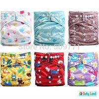 Baby Cloth Nappies 55PCS Mix 36Patterns+55PCS Inserts+55PCS Bamboo Charcoal Inserts Cloth Diaper Nappies