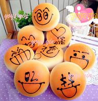 20pcs Jumbo Cute DIY Face  Bread Bun Squishy Charm