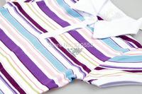 New arrival summer baby girls/boys Light color stripes   T-shirt  #9299