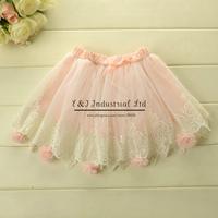 New Dancing Girls Skirts Pink Chiffon Skirt Baby Girls Summer Skirts Child Wear Girls Clothes Free Shipping