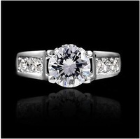 2014 Latest Exquisite Fashion Lady Ring Italina Silver plated Genuine Austrian Zircon Ring For Women With Crystal Rhinestone