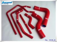 Silicone Radiator Hose Kit for Subaru Impreza GC8 EJ20 STI WRX GT Vers 3-6 96-00 No. 1018_8 Red Free Shipping